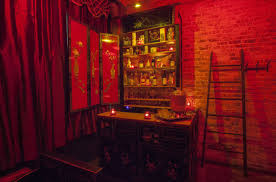dallas red light district stroll through fat rice s red light district style cocktail bar