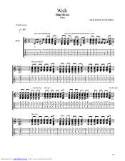 walk guitar pro tab by blind melon musicnoteslib com