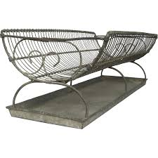 Dish Drainers Xl Antique French Wire Dish Drainer With Zinc Tray Dish Dryer