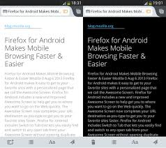 mobi reader for android firefox android app update brings mode for reader and much