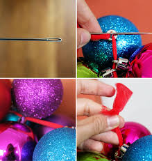 make a diy ornament garland in 10 minutes or less garlands