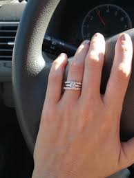 how to wear wedding ring set show me your wedding bands weddings and attire