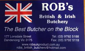 rob s british and irish butchery gippsland granny the butchery is rob s british and irish butchery and some of the many products he sells are black pudding gammon pork pies full range of uk sausages