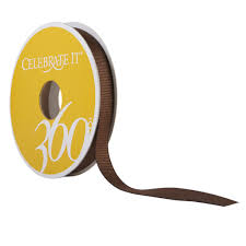 brown ribbon 3 8 grosgrain ribbon by celebrate it 360