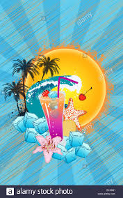 cocktail party invitation advert background with empty space stock