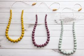 silicone necklace teething images Silicone teething necklace mauvelous mystified mustard jpg