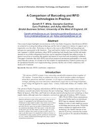a comparison of barcoding and rfid technologies in practice pdf