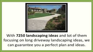 long driveway landscaping ideas youtube