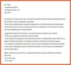 sample job interview thank you letter interview thank you letter examples bio example