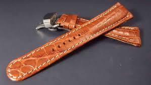 bracelet montre images Bracelet montre en crocodile en 22mm avec boucle deployante JPG
