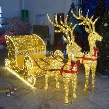 outdoor lights reindeer and sleigh outdoor