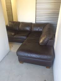 Leather Sofas For Sale Leather Sectional Sofa Couch Italsofa Brown For Sale In Los