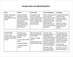 Free Excel Business Plan Template 28 Sales Marketing Plan Template Sle Sales Plan Template 17