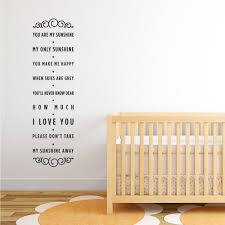 you are my sunshine wall decal roselawnlutheran you are my sunshine wall decal quote