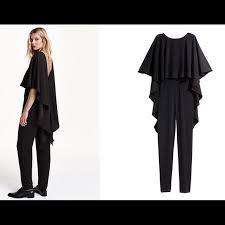 cape jumpsuit 70 h m dresses skirts nwt h m cape jumpsuit from
