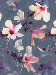 feature wall wallpaper diy hibiscus flowers
