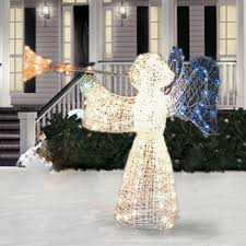 lighted christmas yard angels vibrant idea lighted christmas angel yard decor tree topper angels