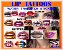 lip stickers temporary makeup tattoos same day free usa