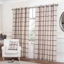 Grey Plaid Curtains Living Room Gray Tartan Curtains Taupe Plaid Curtains Quality