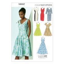 dress pattern john lewis vogue women s dresses sewing pattern 8997 at john lewis