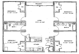 apartments 4 bedroom 2 bath floor plans double storey bedroom