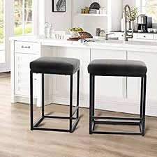bar height kitchen base cabinets alpha home 24 bar stool counter height bar stools with footrest pu leather backless kitchen dining cafe chair with thick cushion sturdy chromed