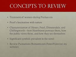 the scarlet letter review terms to review personification