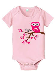 Monogram Baby Items Personalized Baby Gift Owl Baby Bodysuit New Baby Gift