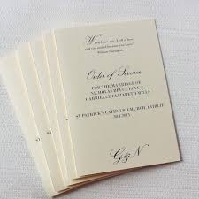 traditional wedding programs traditional monogram order of services be my guest