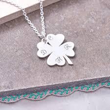 clover leaf necklace images Sterling silver lucky four leaf clover necklace by hurleyburley jpg