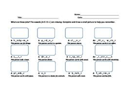 jobs in a hospital worksheet for esl students by esl amy tpt