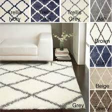 nuloom rug alfombra lanuda diseño de enrejado estilo marroquí