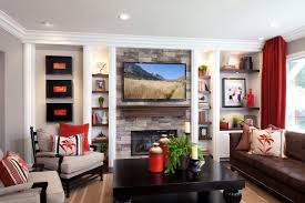 Stylish Transitional Family Room Before And After Robeson Design - Family room