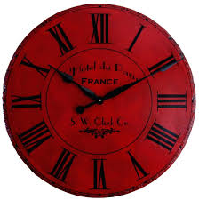 Wooden Wall Clock by Round Wall Clocks Large U2013 Philogic Co