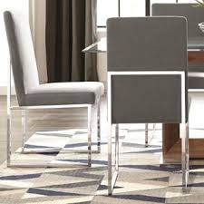 Grey Dining Chairs Modern Floating Design Grey Dining Chairs Set Of 2 Free