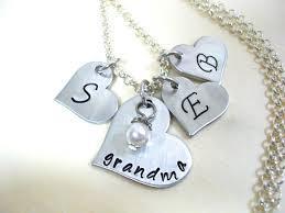 grandkids necklace heart jewelry grandkids jewelry personalized jewelry
