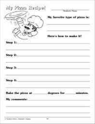 1st grade 2nd grade reading writing worksheets writing recipes