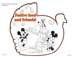 free mickey mouse thanksgiving coloring pages murderthestout