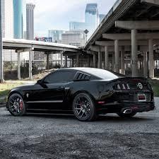 Mustang Gt 2014 Black Vmb5 Satin Black 19x9 19x10 5 5x114 3 73 1 35 45et
