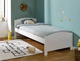 chambre opale blanc lit enfant opale blanc pin massif 90x200 avec matelas et sommier