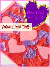 mini monets and mommies kids u0027 valentine u0027s day cut out heart art
