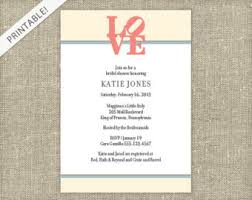bridal shower registry bridal shower registry card customizable colors