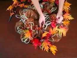 fall geo mesh wreath