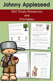 johnny appleseed printables and unit study resources mamas