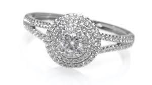 best diamond store diamond triple frame engagement ring in 10k white gold women u0027s