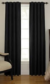 108 Inch Tension Curtain Rod Amazon Com Beautyrest 11239042x108bk Chenille 42 Inch By 108 Inch