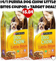 cheap 4 1 purina dog chow little bites coupon target deal