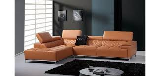Sofa Casa Leather Divani Casa Citad Sectional Sofa In Orange Leather