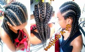 straight back hairstyle cornrows to the back protective hairstyles