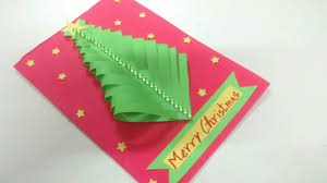 easy paper christmas tree card making idea how to craftlas